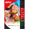Photo paper APLI A4 140g glossy 100 pages