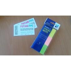 Double A Sticky Note paper, 3 colors, 38 x 51 mm, 3 x 100 pages